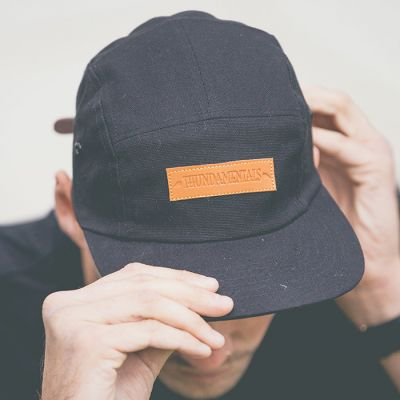 5 Panel Cap (with Leather Patch)