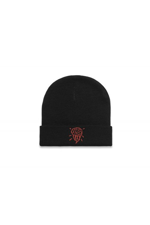 Brain Logo Black Beanie by Thundamentals
