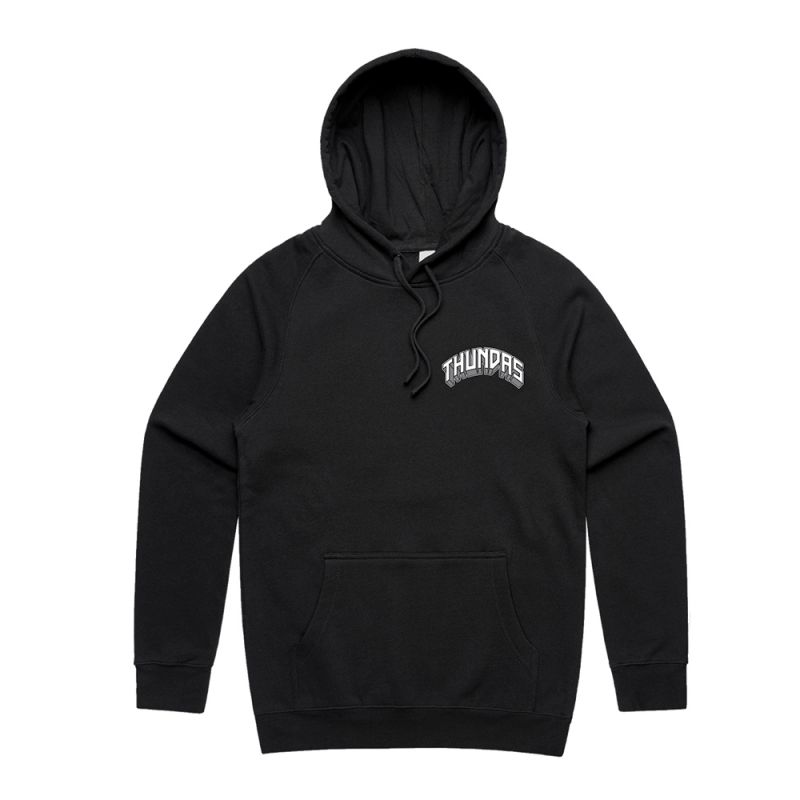 ZEUS THUNDA GOD BLACK HOODY