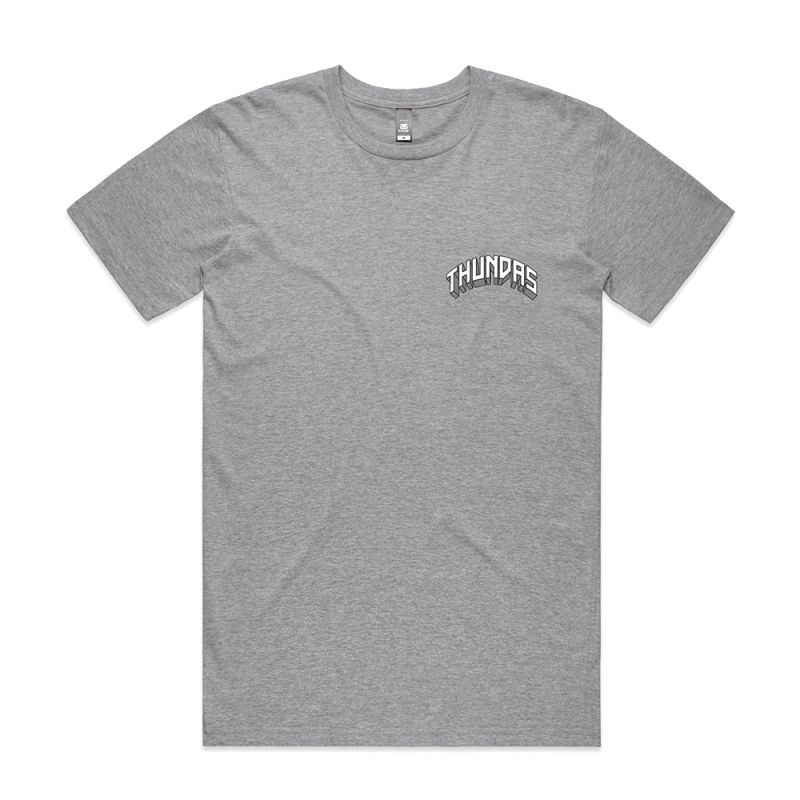 ZEUS THUNDA GOD GREY TEE