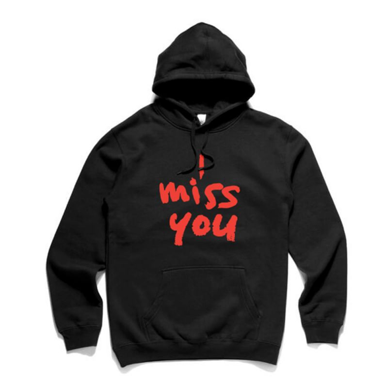 I Miss You Black Hoody