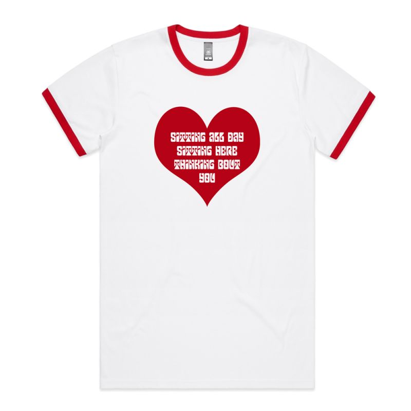 SMILES DONT LIE - VALENTINES DAY WHITE MENS TEE