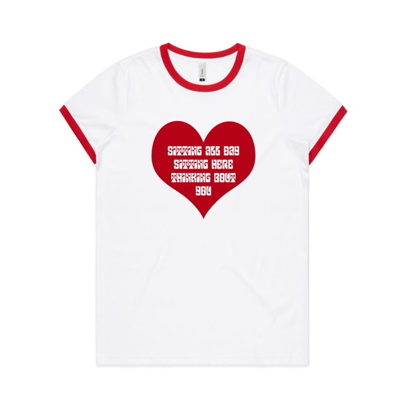 SMILES DONT LIE - VALENTINES DAY WHITE WOMENS TEE