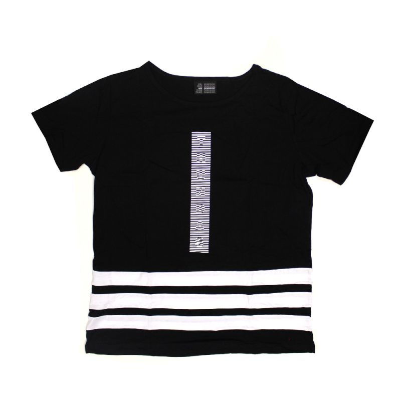 Striped Black Ladies Tee